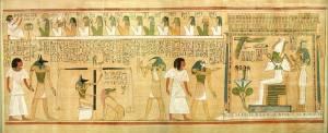 Abbildung von Ammit im Totenbuch von Hunefer