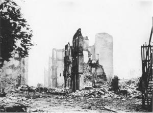 "Guernica nach dem Angriff der ""Legion Condor"""