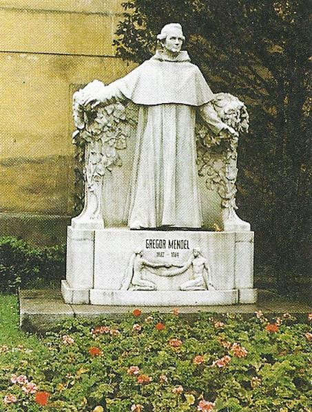Das Denkmal zu Ehren von Gregor Johann Mendel in Brünn