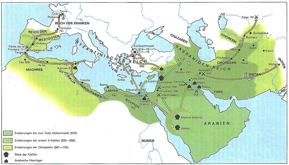 Expansion des Islam bis 750 (dtv Atlas der Weltgeschichte)