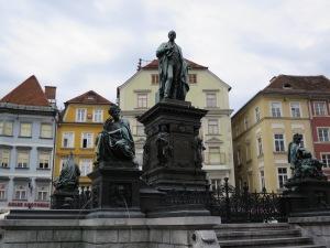 Statue von Erzherzog Johann am Grazer Hauptplatz (eig. Quelle)