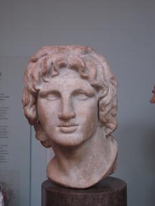 Büste von Alexander dem Großen im British Museum (eig. Foto)