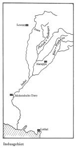 Das Indusgebiet (Quelle: Weiler, Grundzüge der politischen Geschichte des Altertums, S. 30)