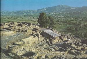 Teilansicht der Palastanlage in Phaistos