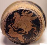 Der Held Bellerophontes reitet auf Pegasos (Quelle: http://commons.wikimedia.org/)