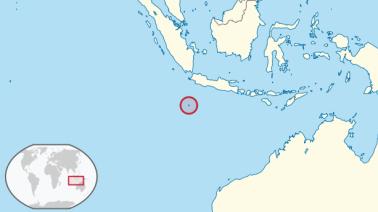 Lage der Weihnachtsinsel im Indischen Ozean