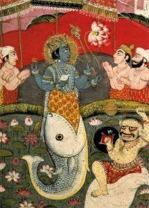 Darstellung von Matsya, einer Form von Vishnu (Quelle: Wikicommons)