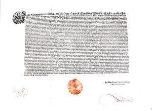 Religionspatent von Kaiser Ferdinand II. aus dem Jahr 1624 (Quelle: Wikicommons)