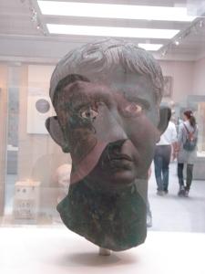 Bronzebüste von Kaiser Augustus im British Museum (Quelle: eig. Bild)