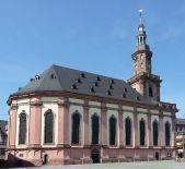 Die wiederaufgebaute Dreifaltigkeitskirche in Worms (Quelle: Wikicommons)