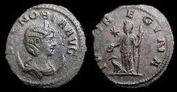 """Münze mit Zenobia als """"Augusta"""""""