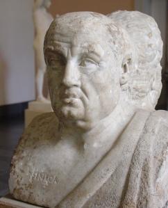 Büste von Seneca dem Jüngeren in der Antikensammlung Berlin (Quelle: Wikicommons)