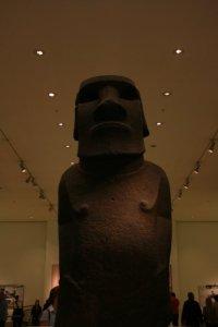 Moai im British Museum, London (Quelle: Eig. Foto)