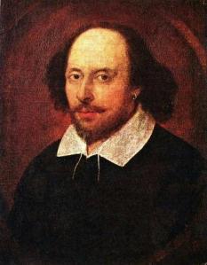 Porträt von William Shakespeare von 1610 (Quelle: Wikicommons)