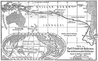 Die Route von Jakob Roggeveen (Quelle: Wikicommons)